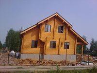 Внешняя отделка дома из бревен